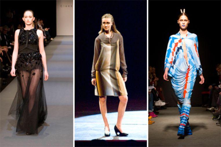 De jurken van (vlnr) Claes Iversen, Conny Groenewegen en Antoine Peters. Foto's Geert Snoeijer Beeld