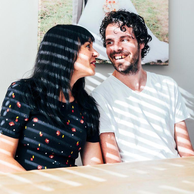 Sabine Beukers – van der Meer en haar man Vincent Beeld Rebecca Fertinel
