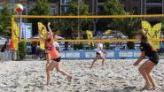 Beachvolleyballers maken mooie weer op Ladeuzeplein