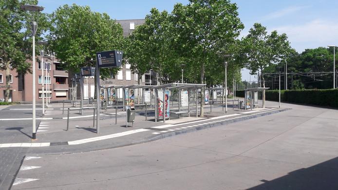 Verlaten busstation Bergen op Zoom.