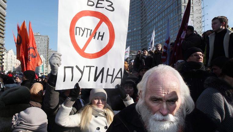 Protest in Moskou vandaag Beeld epa
