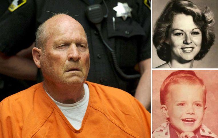 Joseph James DeAngelo (links) wordt ervan verdacht de illustere Golden State Killer te zijn. Rechts Rhonda Wicht en haar zoontje Donald, die in 1978 werden vermoord.