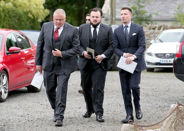 Van links naar rechts: Conleth Hill, John Bradley en Joe Dempsie.