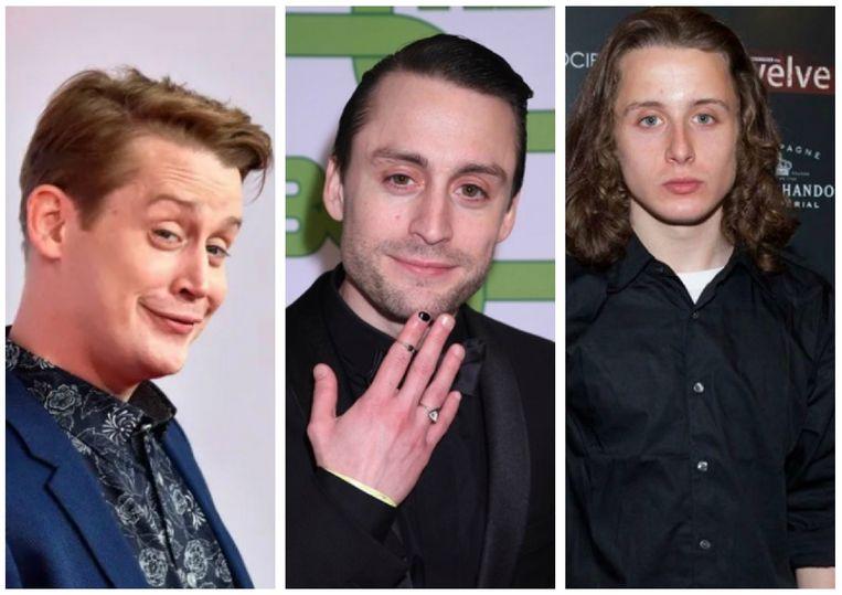 Van links naar rechts: Macaulay, Kieran en Rory Culkin.