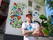 Dromen en ideeën van Tilburgse leerlingen gevat in een muurkunstwerk: 'Ik word hier zo blij van'