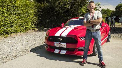 Woeps: Kristiaan beschadigt duurste onderdeel van zijn Mustang tijdens 'Vanity Plates'