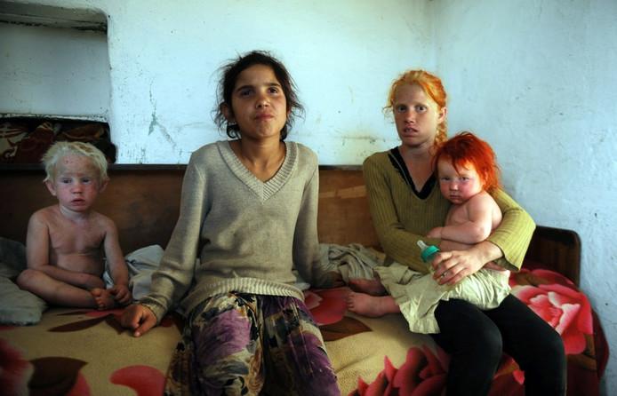 Vier kinderen van Sasha Ruseva en Atanas Ruseva.