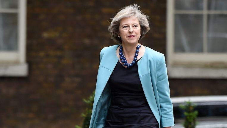 De Britse minister van Binnenlandse Zaken Theresa May. Beeld epa