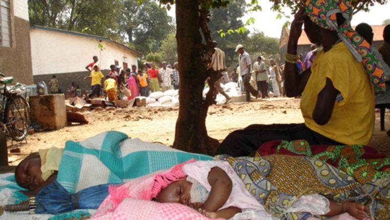 Dorpen in Zuid Soedan zijn steeds vaker het doelwit van de Oegandese terreurorgaqnisatie LRA. Veel ontheemden zoeken bescherming in de regionale hoofdstad Yambio. Foto GPD Beeld