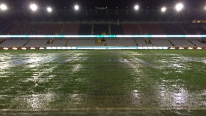 Bekermatch tussen Club en Charleroi afgelast na hevige regenval
