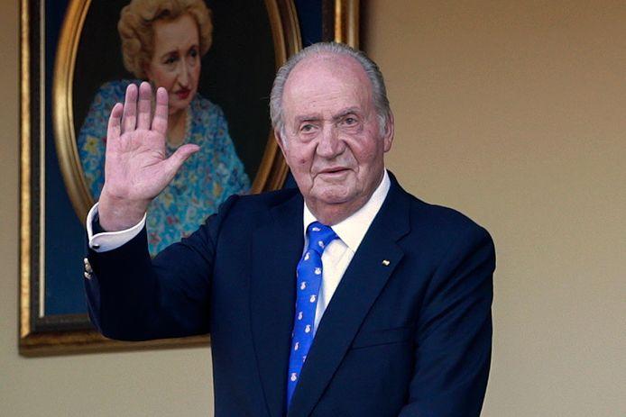 De voormalige Spaanse koning Juan Carlos op archiefbeeld uit juni 2019 tijdens een stierengevecht in de arena in Aranjuez.