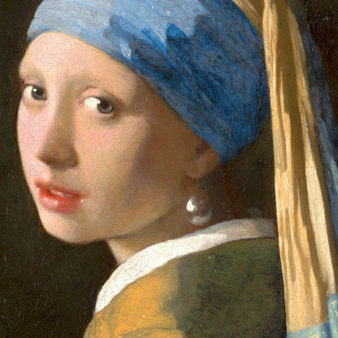 Het meisje met de parel, Johannes Vermeer, detail.