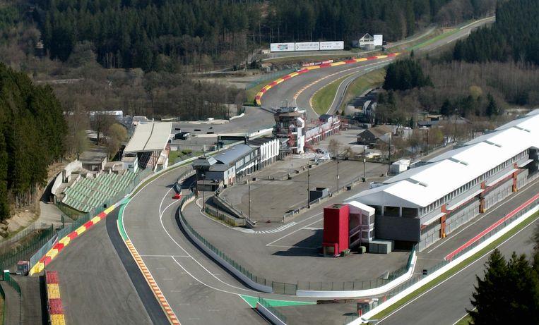 Het circuit in Francorchamps.