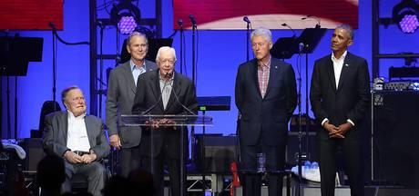 5 oud-presidenten VS samen op podium voor benefiet