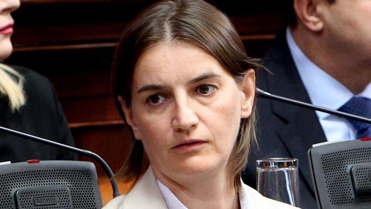 Ana Brnabic, de voorgedragen nieuwe premier van Servië Beeld epa