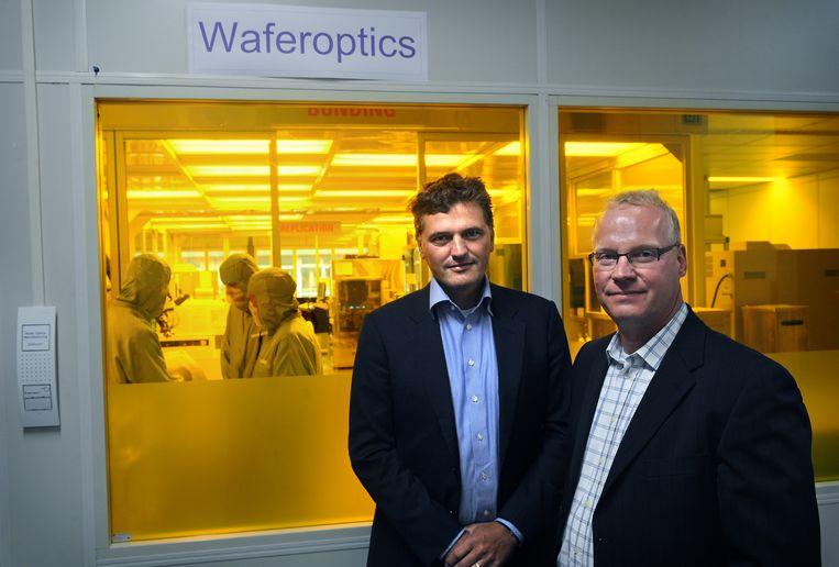 Anteryon-ceo Gert-Jan Bloks (rechts). Beeld Marcel van den Bergh / de Volkskrant