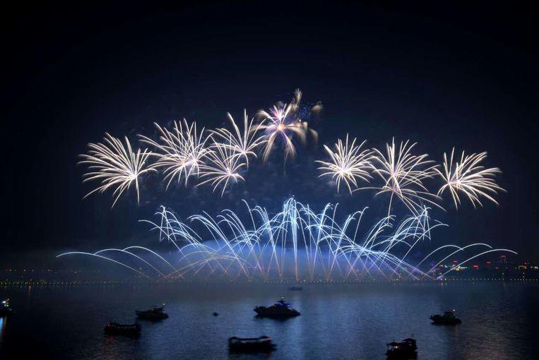 Vuurwerk van Christophe Byl in Changsha, de hoofdstad van de Chinese vuurwerkprovincie Hunan.
