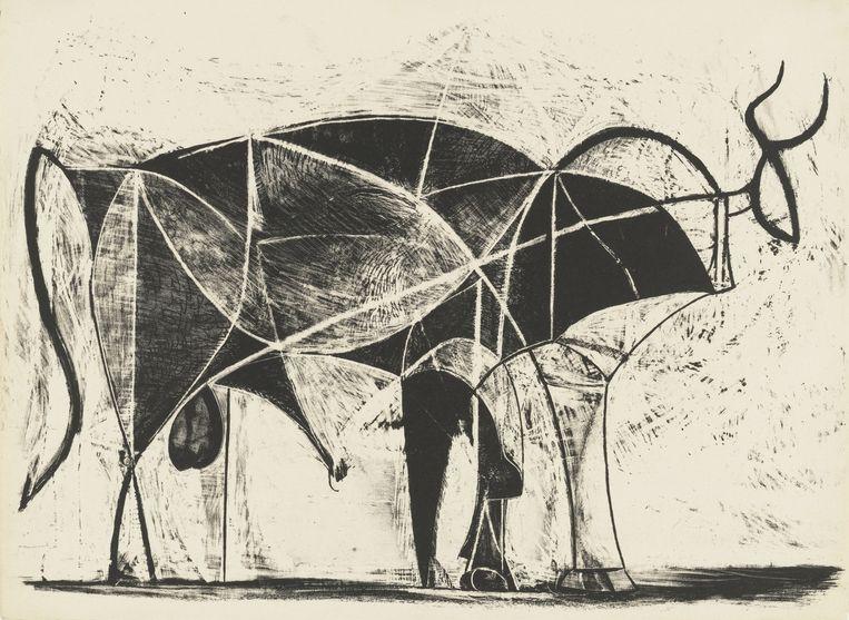 Pablo Picasso, Le Taureau State VII, 1945 Beeld Pictoright Amsterdam 2019