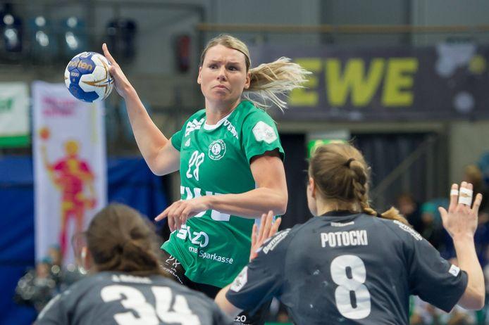 Myrthe Schoenaker hier nog in actie voor VfL Oldenburg