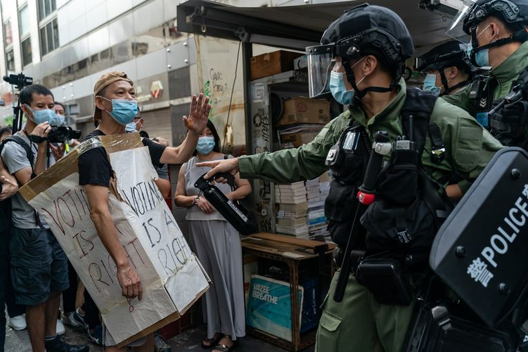 Protesten in Hongkong. Beeld Getty Images