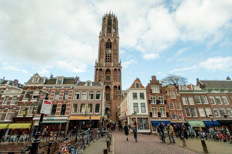 Stadsgezicht van Utrecht, met in het midden de Domtoren.  Beeld ANP