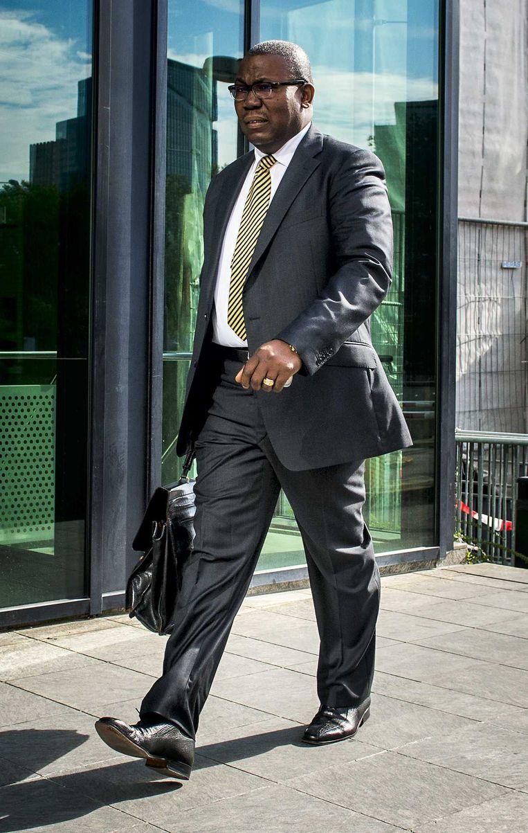 Frank King komt aan bij de Amsterdamse rechtbank Beeld anp