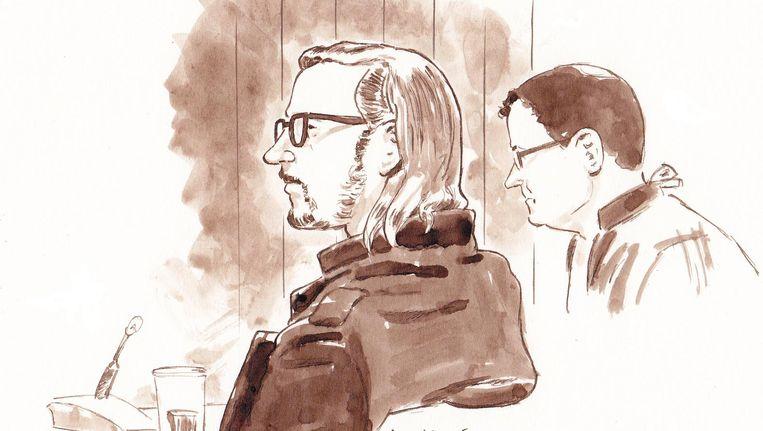 Rechtbanktekening van verdachte Aydin C. Beeld null