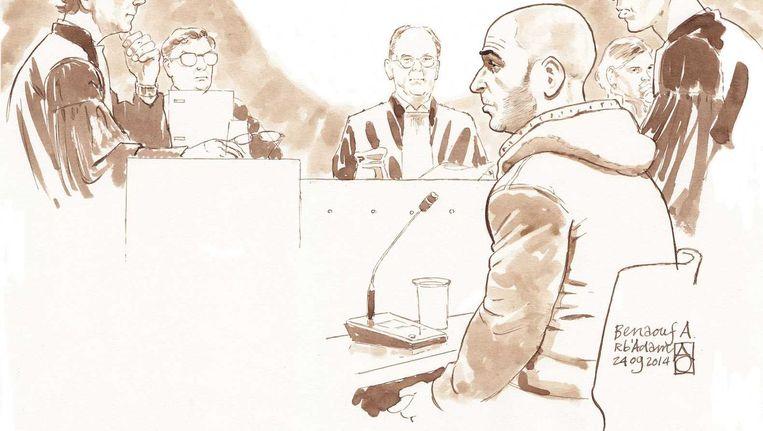 Benaouf A. in de rechtbank Beeld anp