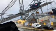Containerschip slaat op drift en ramt havenkraan bij DP World, onderhoudstechnici kunnen tijdig ontsnappen