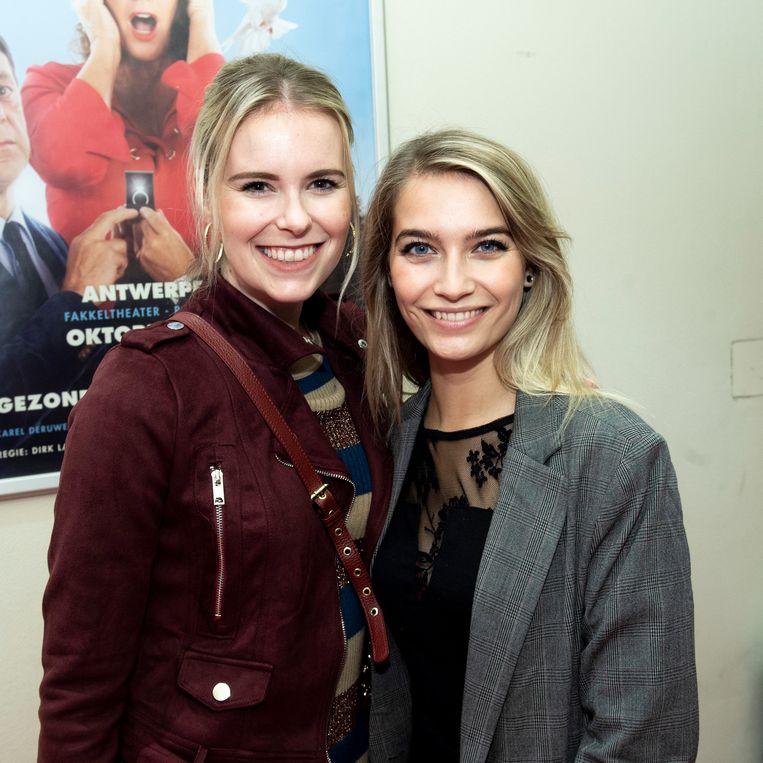 Tinne Oltmans kwam kijken met De Kotmadam-actrice Helle Vanderheyden.