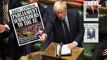 Van 'vernedering voor Johnson' tot 'Boris is de controle kwijt': Britse pers snoeihard voor premier na nederlaag