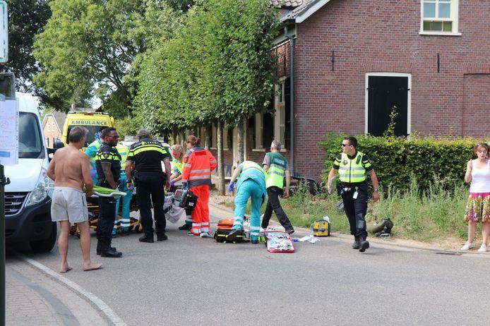 Ernstig ongeluk met scooter in Almkerk.