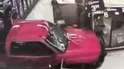 VIDEO. Klant rijdt in op supermarkt Walmart na ruzie