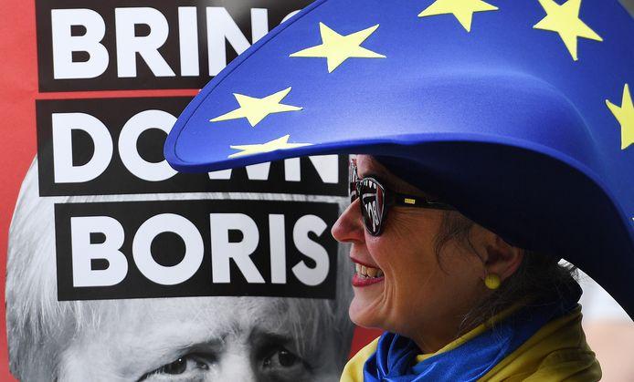 Protesten in Londen tegen het brexit-beleid van de nieuwe Britse premier Boris Johnson.