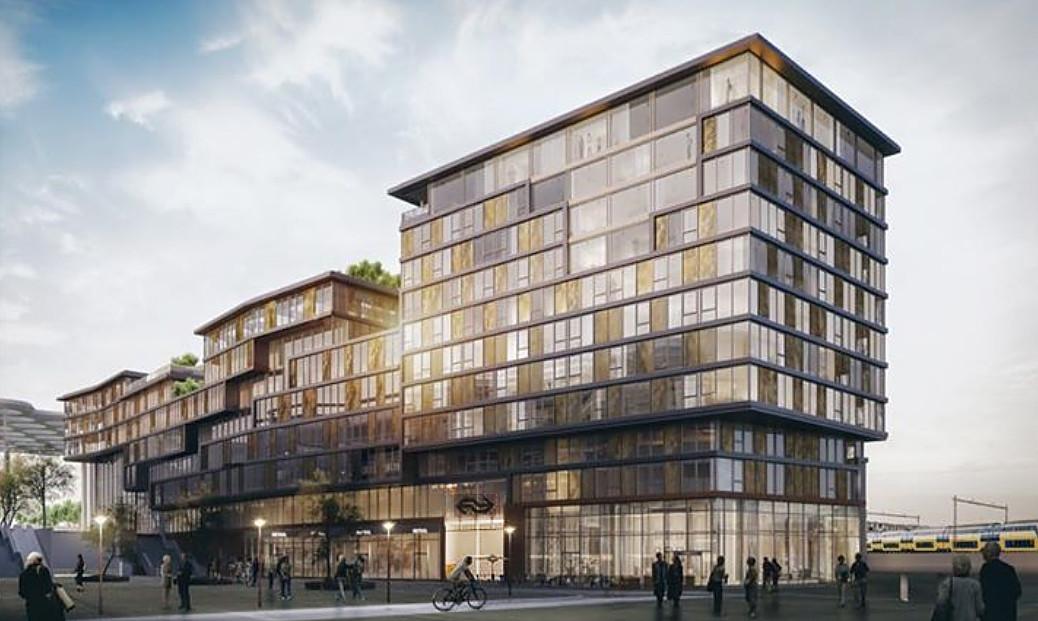 Het Noordgebouw, met in het midden de nieuwe ingang naar de Noordertunnel.