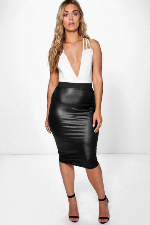 Pleather skirt, €14