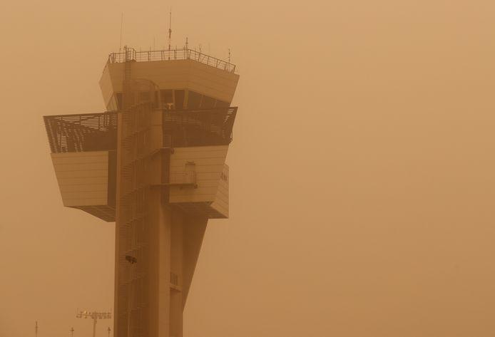 L'aéroport de Las Palmas, ce samedi.