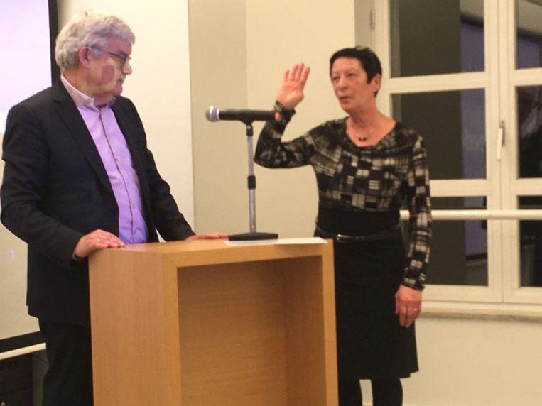 Nicole Van Emelen bij burgemeester