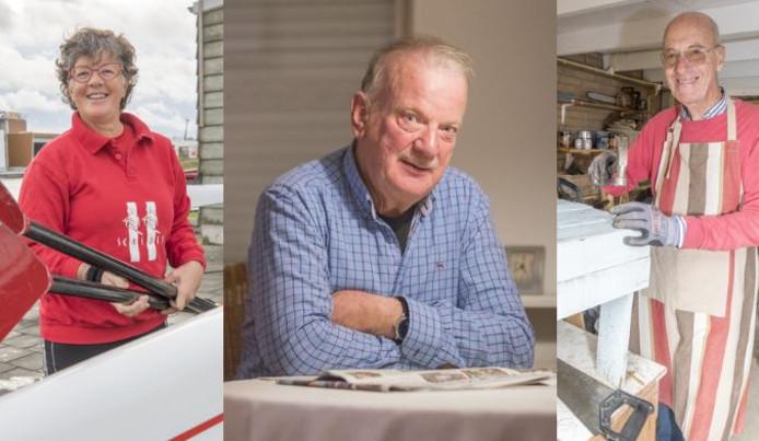 Wilma Lakké, Arie Kole en Cees de Lange (vlnr), deelnemers aan 'Power, Veerkracht op Leeftijd'.
