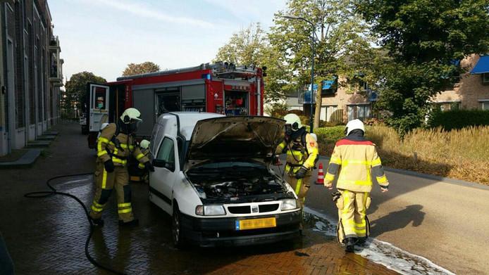 Autobrand in Terborg.