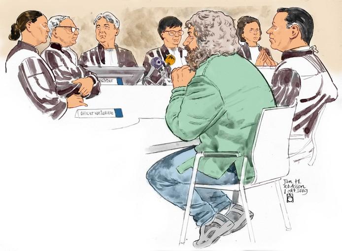Jan H. in de rechtbank.