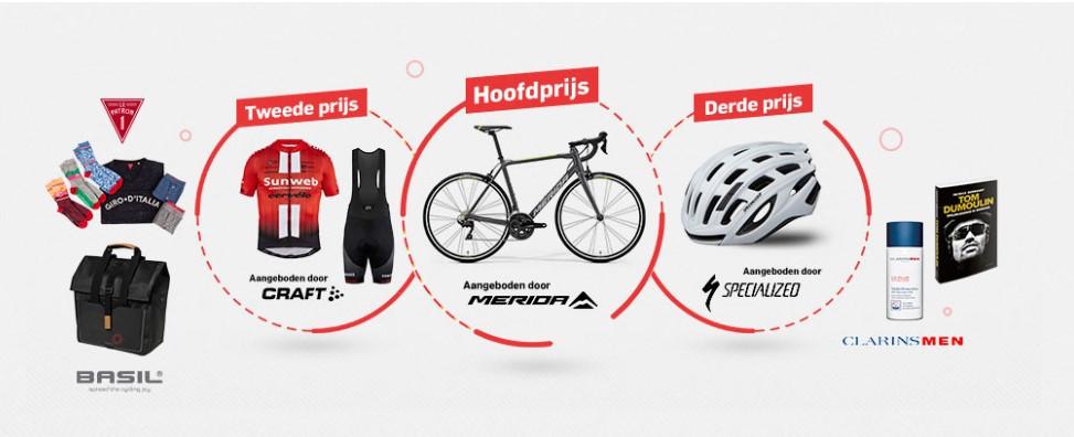 Het prijzenpakket van het Giro Wielerspel.