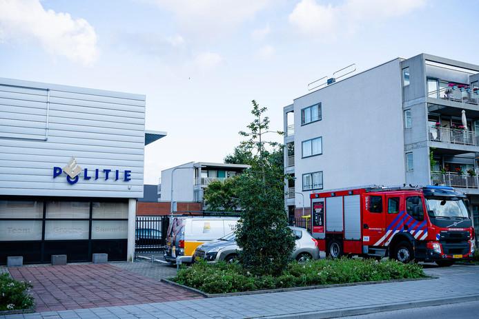 Agenten klaagden over een vreemde geur in het politiebureau aan de Brucknerlaan in Tilburg.