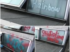 Basisschool in Elst beklad met graffiti