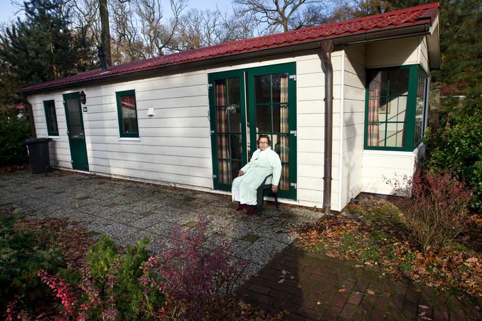 Een asielzoeker in vakantiepark Duinrell in Wassenaar.