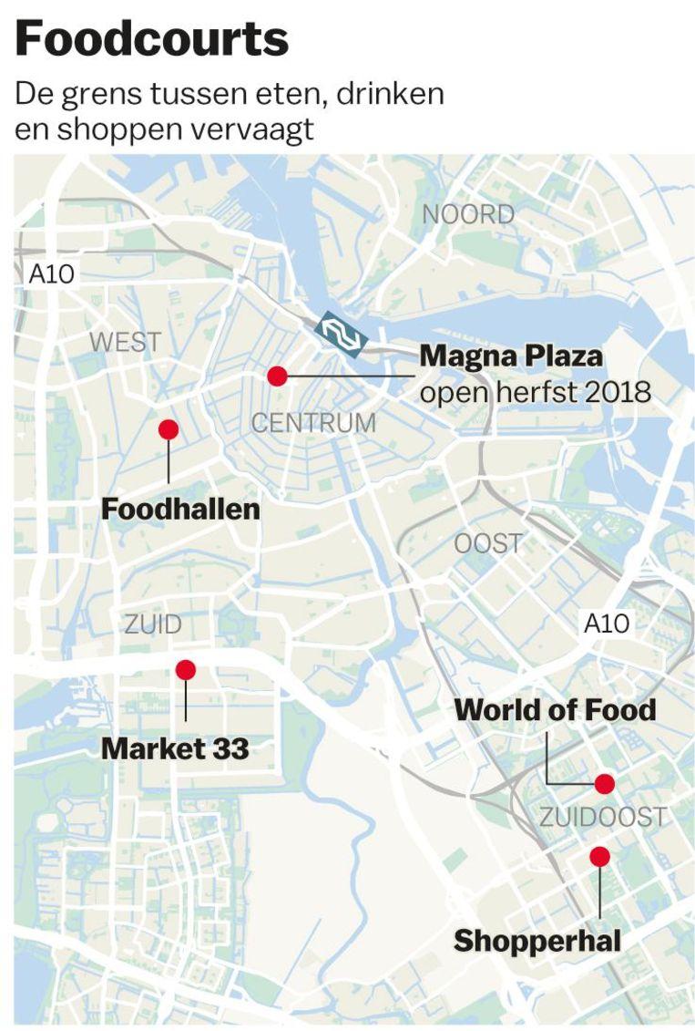 Foodcourts in Amsterdam Beeld Laura van der Bijl