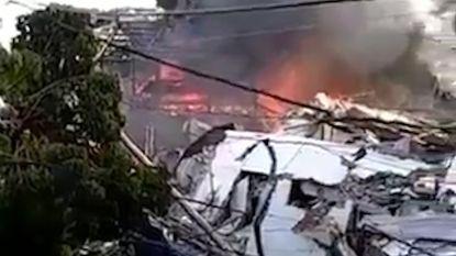 VIDEO. Enorme ravage bij ontploffing Dominicaanse fabriek: slachtoffers zijn vooral kinderen