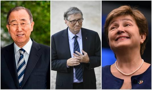 Voormalig VN-topman Ban Ki-moon, Microsoft-oprichter Bill Gates en de baas van de Wereldbank, Kristalina Georgieva, gaan de commissie leiden.