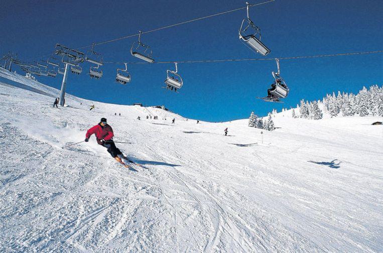 Veel ruimte op de pistes van de Kitzbüheler Alpen. Foto Kitzalps/Peter Vonier Beeld