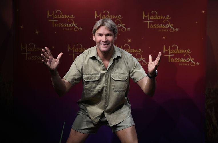 Het wassen beeld van Steve in Madame Tussaud Sydney.